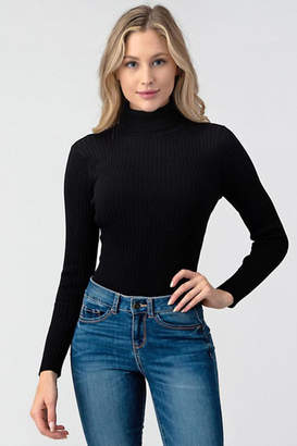 Better Be Ribbed Turtleneck Bodysuit