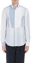 Loewe Men's Striped Patchwork Cotton-Blend Shirt