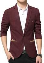 Vividda Men's Slim Fit Stylish Jacket Blazer Casual Business Jacket Suit Jacket