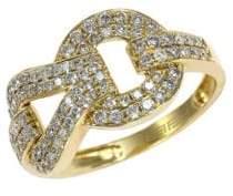 Effy Diamond And 14K Yellow Gold Ring, 0.69 TCW
