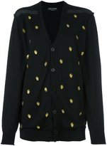 Sonia Rykiel 'hand' embroidered pattern cardigan