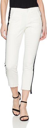 Pam & Gela Women's Off-Set Skinny Pant with Side Stripes