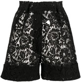 Loulou high-waisted lace shorts