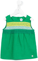 Parrot Kids - embroidered blouse - kids - Linen/Flax/Polyester - 4 yrs