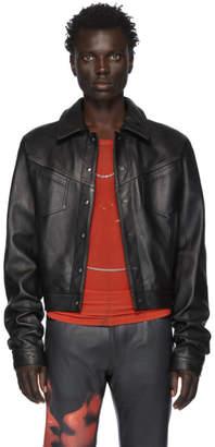 Mowalola Black Leather LC Jacket