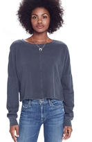 Mother Droopy Crop Fray Sweatshirt