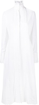 Paco Rabanne Broderie Anglais Shirt Maxi Dress