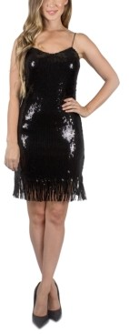 Crystal Doll Juniors' Sequin Fringe Dress