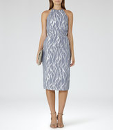 Reiss Cass Metallic Burnout Dress