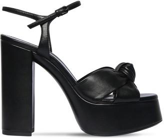 Saint Laurent 120mm Bianca Leather Platform Sandals
