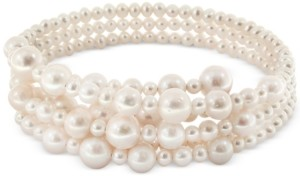 Effy Pearl Lace by Cultured Freshwater Pearl (5-1/2, 7-1/2, 10, 12mm) Coil Choker Necklace