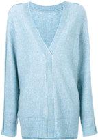 3.1 Phillip Lim V-neck jumper - women - Polyamide/Spandex/Elastane/Wool/Yak - M