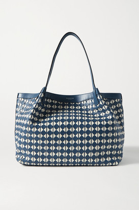 SERAPIAN Secret Small Woven Leather Tote - Blue