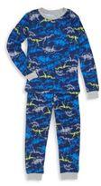 Petit Lem Boy's Dino-Print Pajama Set