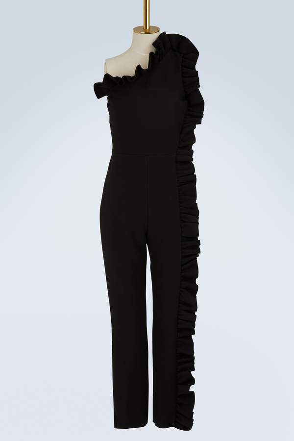 MSGM Ruffled asymmetric jumpsuit