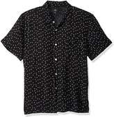 Obey Men's Pumps Woven Short Sleeve Button up Shirt