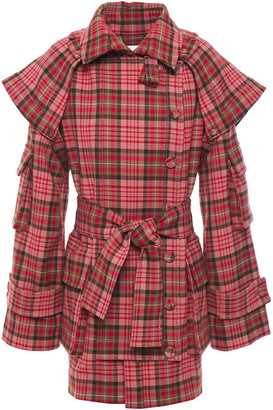 Zimmermann Belted Checked Jacquard Jacket