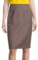 Escada Houndstooth Wool Skirt