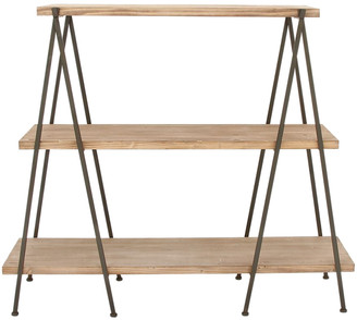 Uma Enterprises Wood Metal 3-Tier Shelf