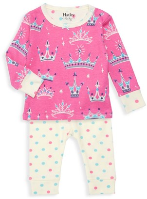 Hatley Baby Girl's Pretty Princess 2-Piece Pajama Set