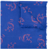 Bobo Choses Flamingo scarf - kids - Cotton - One Size