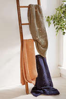 Urban Outfitters Distressed Waffle Throw Blanket