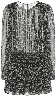 Saint Laurent Printed silk minidress