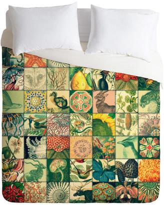 Deny Designs Belle13 Wonderful World Patchwork Duvet Cover - Lightweig