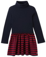 Petit Bateau Girls roll neck dress