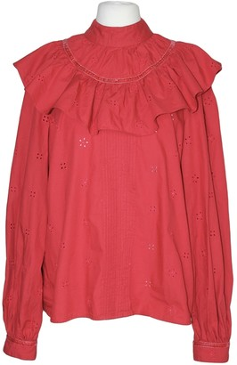 Topshop Tophop Red Cotton Top for Women