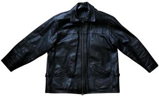 Non Signã© / Unsigned Non SignA / Unsigned Oversize Black Leather Jackets