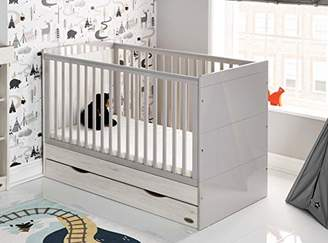 O Baby Obaby Madrid Cot Bed and Dual Core Moisture Management Mattress - Lunar