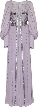 Temperley London Queenie Studded Sequin-Embellished Silk Gown