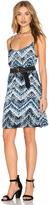 Michael Stars Azure Crepe Print Cami Swing Dress