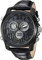Sean John Men's 'Portofino' Quartz Metal and Leather Dress Watch, Color: (Model: SJC0175002)