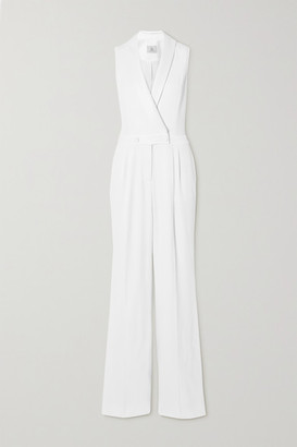 RALPH & RUSSO Crepe Jumpsuit - White