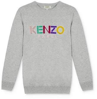 Kenzo Girls' Rainbow Logo Sweater - Little Kid