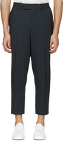 Oamc Navy Tropic 2 Button Suit Trousers