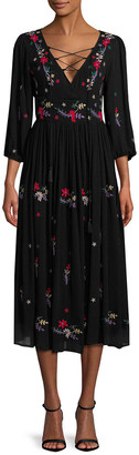 Raga Sammy Embroidered Midi Dress