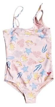 Roxy Big Girls Walea Heart One Piece Swimsuit