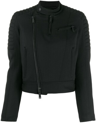 DSQUARED2 Cropped Quilted Biker Jacket