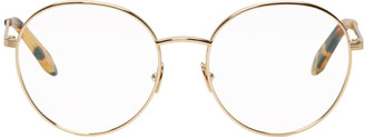 Victoria Beckham Gold Panto Glasses