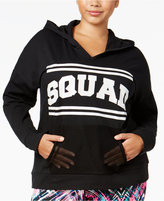 Material Girl Active Plus Size Squad Graphic Hoodie, Only at Macy's