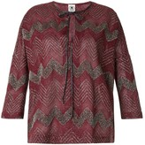 M Missoni Zigzag Embroidered Top