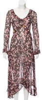 Marni Silk Floral Print Dress