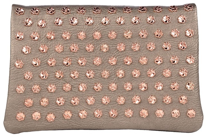 7 Chi 7CHI Floral Studded Clutch