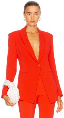 Cushnie Shawl Collar Jacket in Rouge | FWRD