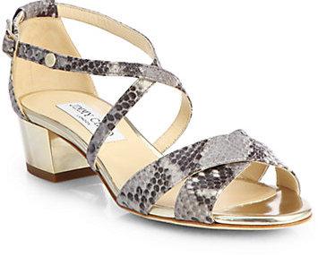 Jimmy Choo Merit Snakeskin Sandals