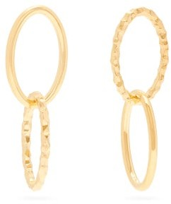 All Blues Ellipse Mismatched Gold-vermeil Hoop Earrings - Gold