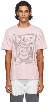 Golden Goose Pink Graphic T-Shirt